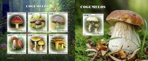 Z08 IMPERF GB191001ab GUINEA BISSAU 2019 Mushrooms MNH ** Postfrisch