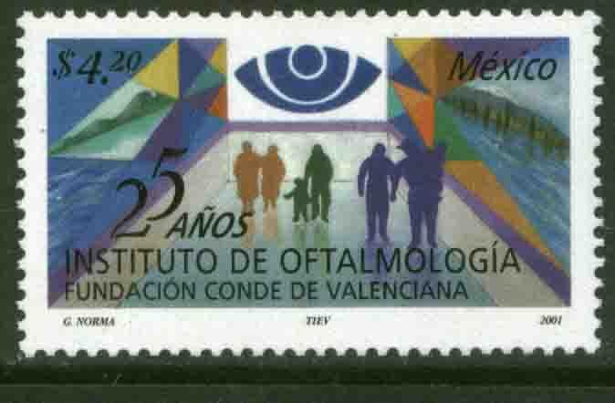 MEXICO 2242 Ophtalmology Institute 25th Anniversary MNH. VF.