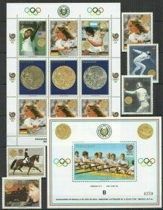 I396 PARAGUAY OLYMPIC GAMES SEOUL 1988 #4298-02+KB+BL455 MICHEL 54 EURO FIX