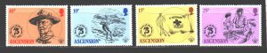 Ascension. 1982. 306-9. Scouts. MNH.