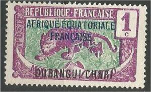 Ubangi Shari, MH 1c, Leopard, Scott 41