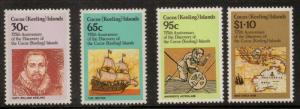 COCOS (KEELING) ISLANDS SG115/8 1984 DISCOVERY OF COCOS MNH