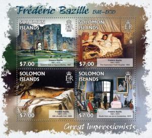 SOLOMON ISLANDS 2013 SHEET BAZILLE ART PAINTINGS slm13201a