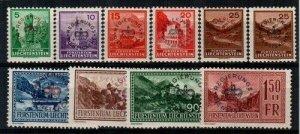 Liechtenstein Scott O11-20 Mint hinged [TE347]
