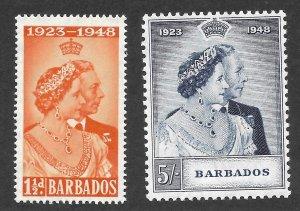 Doyle's_Stamps: MNH 1948 KGVI Silver Anniversary Set Scott  #210** & #211**