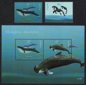Angola Whales Dolphins Marine Mammals 2v+MS SG#1683-MS1685