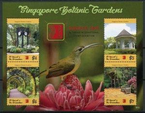 St Vincent & Grenadines 2019 MNH Singapore Botanic Gardens Singpex 4v M/S Stamps