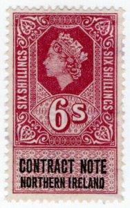 (I.B) Elizabeth II Revenue : Contract Note (Northern Ireland) 6/-