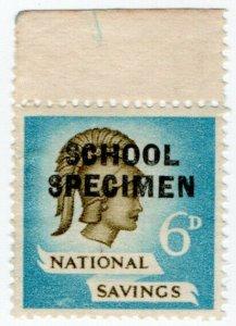 (I.B) Cinderella Collection : National Savings - Britannia 6d (School Specimen)