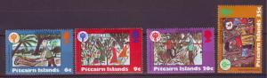 J16463 JLstamps 1979 pitcairn island set mnh #188-91 christmas