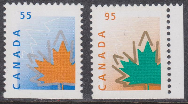 Canada - #1684as & 1686as - 1998 Stylized Maple Leaf Stamps VF-NH