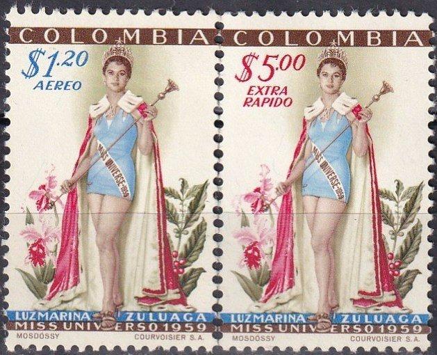 Colombia #C317-8  F-VF Unused CV $46.75 Z999