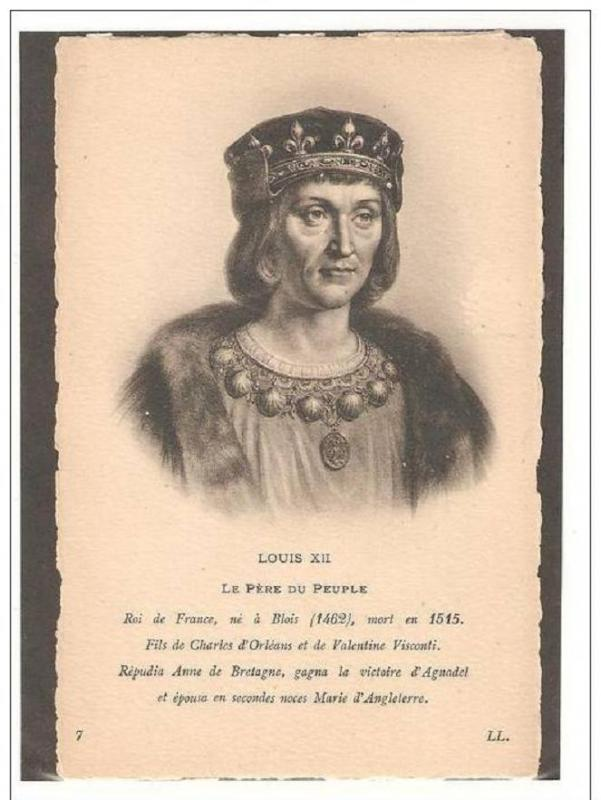 King of France Louis XII 1462-1515 House of Valois-Orleans,Unused