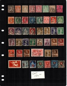 Switzerland 44 diff  mint and used stamps cat $180.00