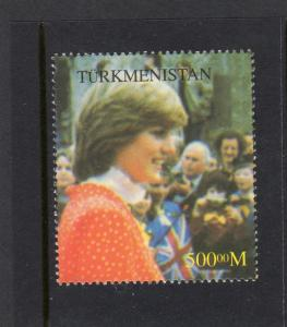 Turkmenistan 1997 PRINCESS DIANA BOYS SCOUT 1 value Perforated mnh/vf