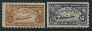 Paraguay Airmails Graf Zeppelin 1932  22.5 & 40 pesos mint o.g. hinged