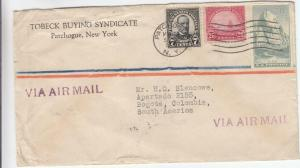 1935, Patchogue, NY to Bogota, Columbia, Airmail, See Remark (29544)