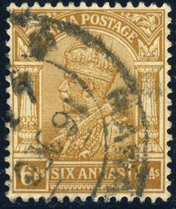 INDIA - KGV - 1935 SG239 6A bistre  - VF Used  (a)