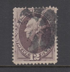 US Sc 151 used 1870 12c dull violet Henry Clay, scarce & attractive