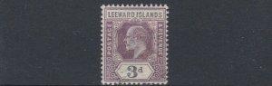 LEEWARD ISLANDS  1902  S G 24  3D  PURPLE & BLACK   USED