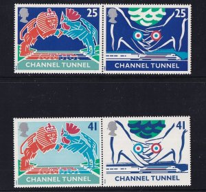 Great Britain  #1558-1561  MNH  1994  opening channel tunnel