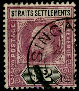 MALAYSIA - Straits Settlements SG137, $2 dull purple & black, FINE USED. Cat 90.