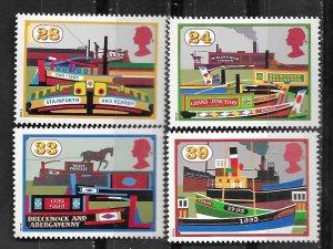 Great Britain # 1506-09  Inland Waterways  (4) Mint NH