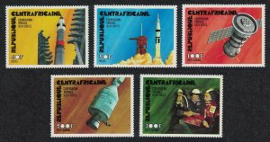 Central African Rep. Apollo-Soyuz USSR-USA Space Link 5v SG#410-414