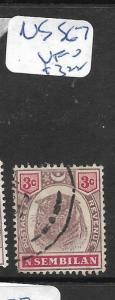 MALAYA NEGRI SEMBILAN  (P0606B)  TIGER   3C  SG 7   VFU