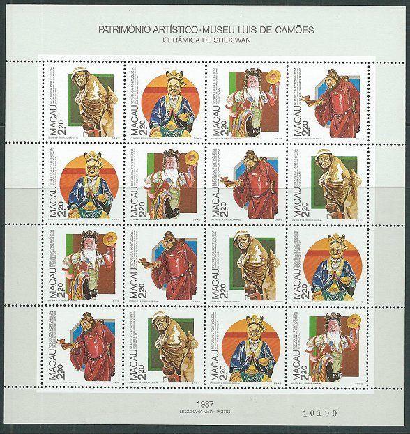 MACAU 1987 Traditional Art souvenir sheet very fine MNH....................59839