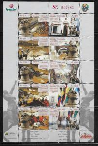 Venezuela 1729 Battles Mint NH