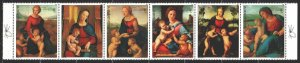 Paraguay. 1982. 3553-58 from the series. Madonna, Christmas. MNH.