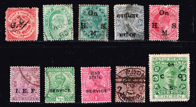 INDIA STAMP USED STAMPS COLLECTION LOT