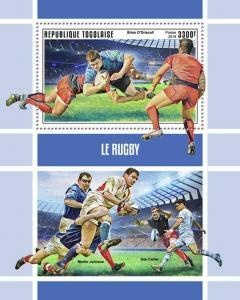 Z08 IMPERF TG190145b TOGO 2019 Rugby MNH ** Postfrisch