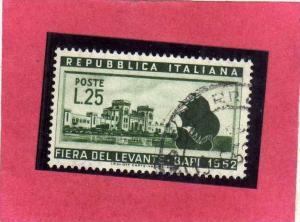 ITALIA REPUBBLICA ITALY REPUBLIC 1952 XVI 16 FIERA DEL LEVANTE DI BARI 16TH F...