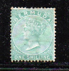 Bermuda Sc 6 1865 1/ green Victoria stamp used