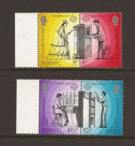 Jersey MNH 204-7 Europa Mail People 1979