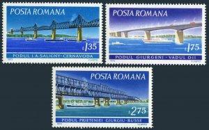 Romania 2337-2339,MNH. 1972.Danube Bridges:Saligny,Giurgeni,Friendship.