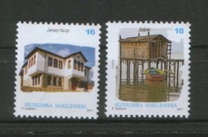 MACEDONIA-MNH**-SET-ARCHITECTURE-2011.
