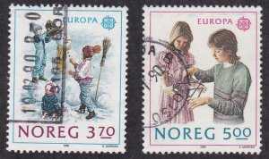 Norway # 942-943, Europa - Childrens Games, Used Set, 1/3 Cat.
