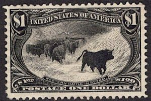 US Stamp #292 MINT NO GUM SCV $850. Fantastic Impression, centering.
