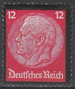 Stamp Germany Mi 552 Sc 440 1934 War 3rd Reich Death Hindenburg Mourning MH