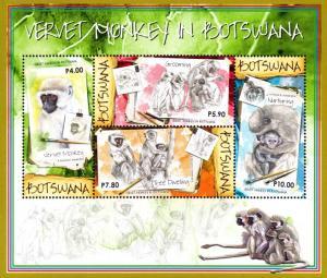 Botswana - 2015 Vervet Monkeys MS MNH**