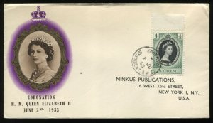St. Vincent 1953 QEII Coronation cacheted First Day Cover