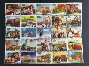 1950s Sheet of Boys Town charity stamps Full sheet of 25