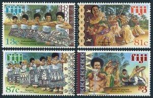 Fiji 839-842,MNH.Michel 869-872. Traditional Dances 1999.Vakamalolo,Mekeiwau,