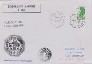 French Guiana France 2F Liberty 1988 973-Cayenne-R.P., Guyane to Vigneulles w...