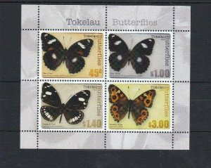 BC193) Tokelau 2013 Butterflies Minisheet MUH