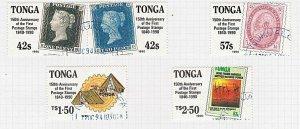 TONGA 1990 150th Anniv Penny Black set fine used............................J892