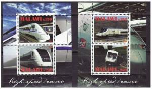 High-Speed Trains - 2 Sheet  Set  - 13K-006